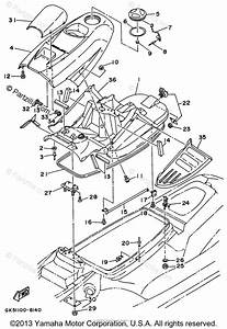 Yamaha Waverunner 1996 Oem Parts Diagram For Engine Hatch