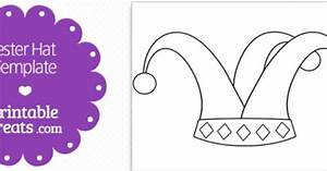 Printable Jester Hat Shape Template — Printable Treats.com ...