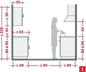 hauteur entre meuble bas et haut cuisine aménager l 39 espace d 39 une cuisine