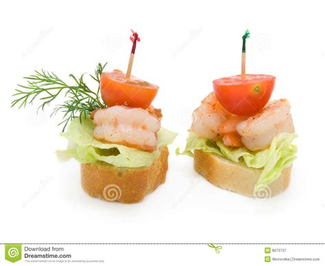 canape made vegetable salad for breakfast salad