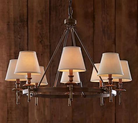 pottery barn chandelier collins chandelier aged brass pottery barn