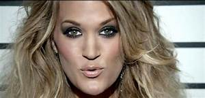 "Love Carrie Underwood's makeup in ""Somethin' Bad ..."