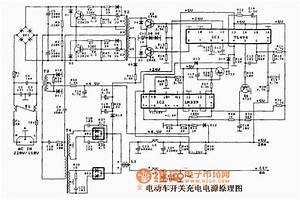 Electric Vehicle Switching Charging Power Supply Circuit