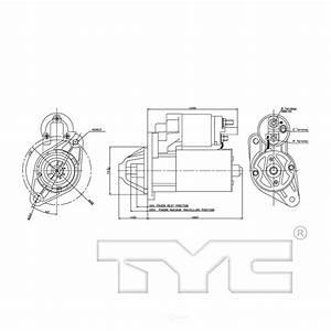 Tyc Starter Motor 2002 Dodge Neon 2 0l-1-17790