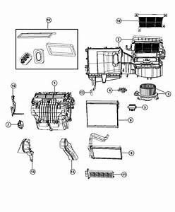2012 Chrysler 200 Housing  Blower Motor  Module