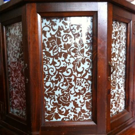 fabric kitchen cabinet doors fabric covering glass doors in cabinet i am doing this 7119
