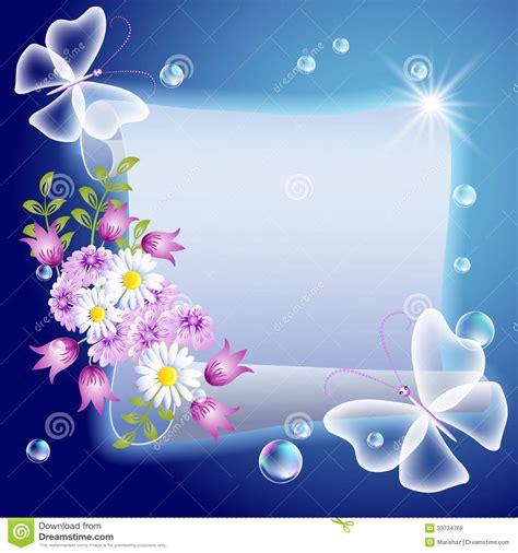 cuisiner avec des fleurs parchemin avec des fleurs et des butterfliers illustration
