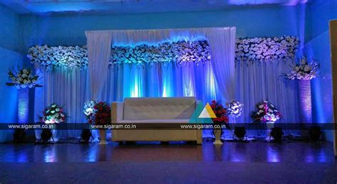 outdoor reception stage decoration  hotel ashoka