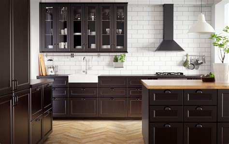 ikea black kitchen cabinets lovely ikea oak kitchen cabinets gl kitchen design 4419