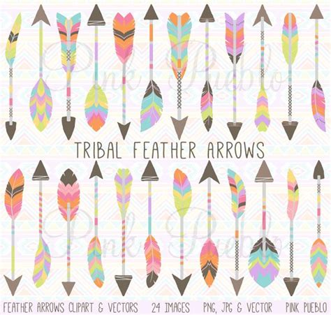 tosca white arrow and feathers clipart collection