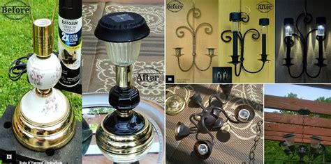 diy outdoor solar lighting from recycled ls home