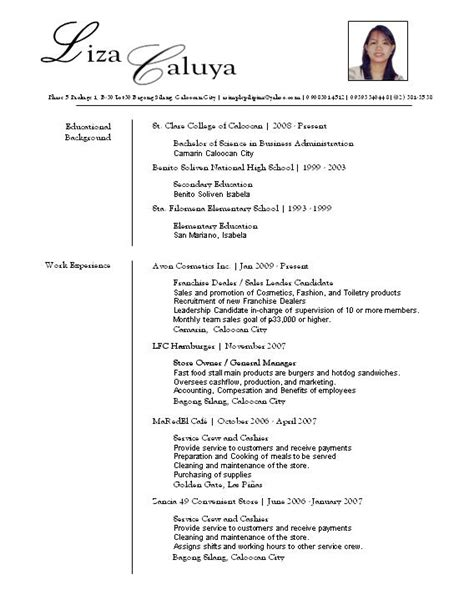 Layouts Of Resumes by Resume Layouts My Layout