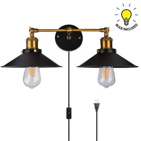 kiven vintage style 2 lights industrial wall sconce one