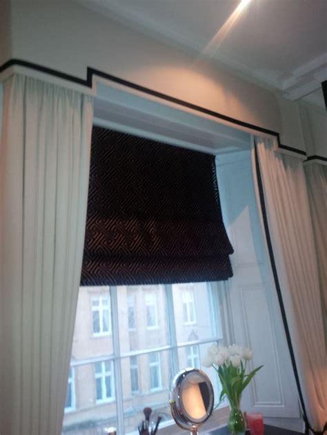 dress curtains pelmet roman blind add  sheer