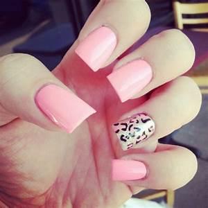 light pink cheetah nails | Nail Art | Pinterest