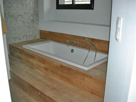 baignoire chambre baignoire encastrée contemporain salle de bain