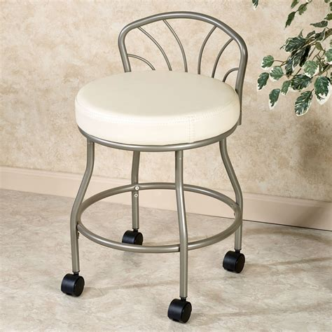 Vanity Chair For Bathroom With Wheels by Bathroom Vanity Stools With Wheels Onideas Co