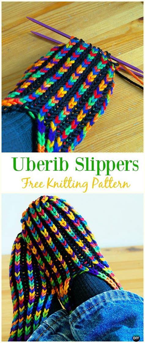 knit adult slippers boots  patterns written tutorials