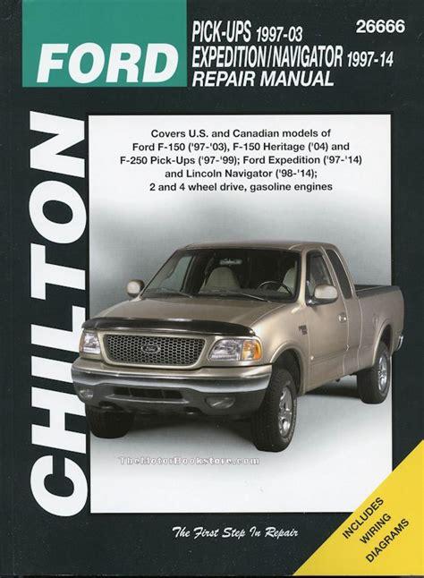 car repair manuals online free 2003 ford f150 lane departure warning ford f150 f250 expedition lincoln navigator repair manual 1997 2014