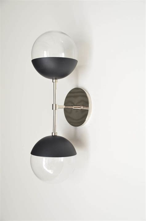 Oak Bathroom Light Fixtures by Delphine Matte Black Oak Lighting Black