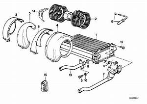 1991 Bmw 325ix Blower Unit  Heater  Electric  Conditioning - 64111370930