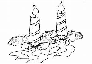 Bougie De Noel Dessin : coloriage bougies de no l ~ Voncanada.com Idées de Décoration