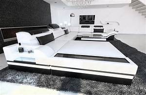 Couch Led : design sectional sofa mezzo xxl with led lights white ~ Pilothousefishingboats.com Haus und Dekorationen