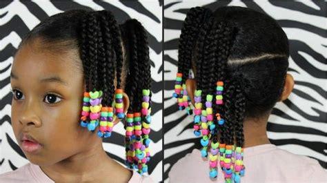 10 Elegant Little Girl Braids With Beads