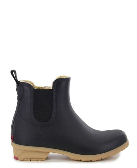 Chooka Rubber Bainbridge Chelsea Ankle Rain Boot in Black ...