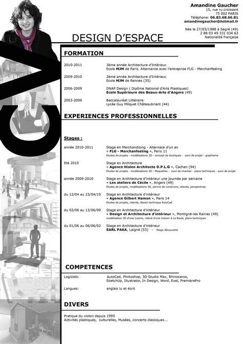 Curriculum Vitae Design Template by Curriculum Vitae Design Architecture Dintrieur 1240x1754