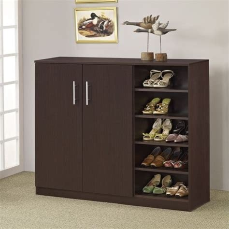 Grande Multipurpose & Shoe Cabinet  Walnut Modern