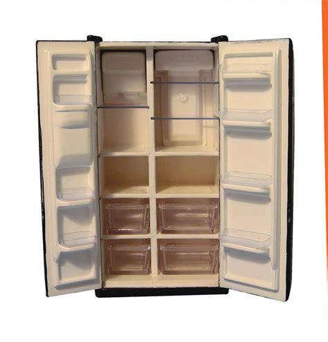 amerikanischer kühlschrank schwarz amerikanischer k 252 hlschrank schwarz f 252 r ihr puppenhaus in 1zu12