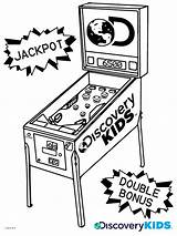 Pinball Coloring Discovery sketch template