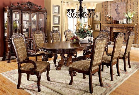medieve cherry extendable rectangular dining room set