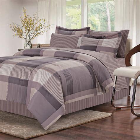 brown grey harmony grey  piece king bed  bag set