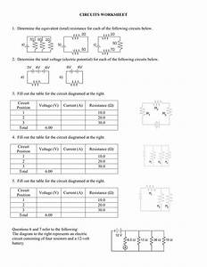 Circuits Worksheet