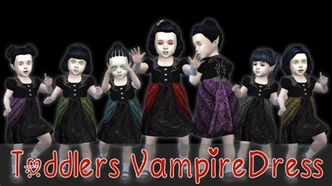 toddlers vampire dress  seger sims sims  updates