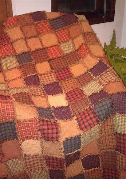 Homespun Rag Quilt Fabric Journey Lap Jo