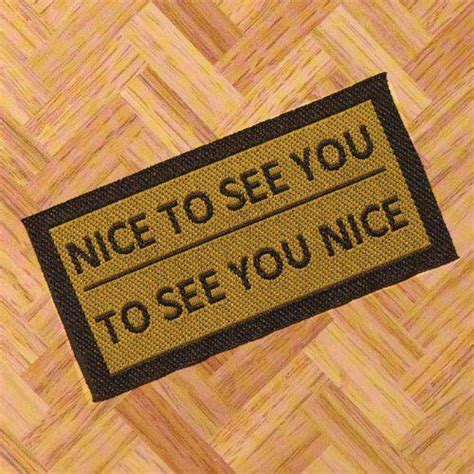 To See You To See You Doormat the dolls house emporium to see you door mat