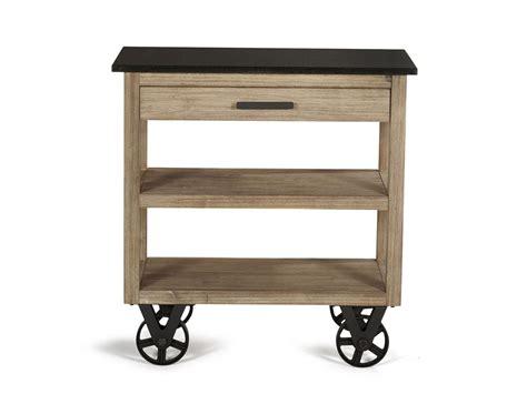bureau conforama bois desserte de cuisine sur roulettes design quot usine quot et bois