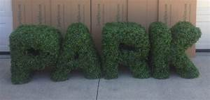 custom made boxwood letters foliage on all side 36quot tall With boxwood letters