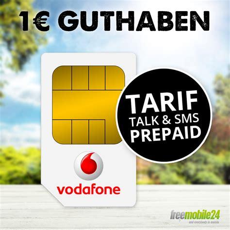 vodafone prepaid karte talk sms  callya prepaid sim