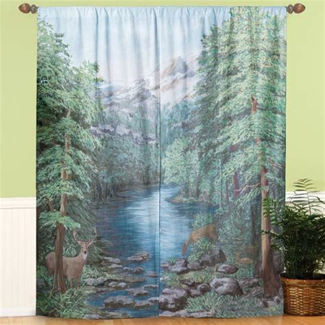 scenic drapes window art curtains scenic window curtains curtains walter drake