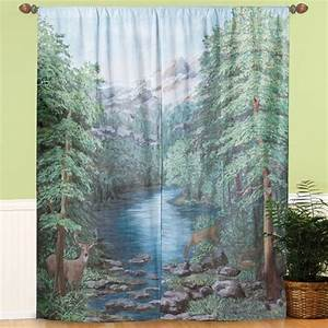 Window Art Curtains - Scenic Window Curtains - Curtains