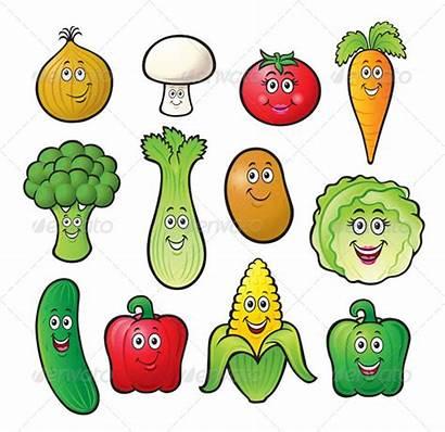 Cartoon Veggie Characters Twelve Pepper Graphicriver Vegetables