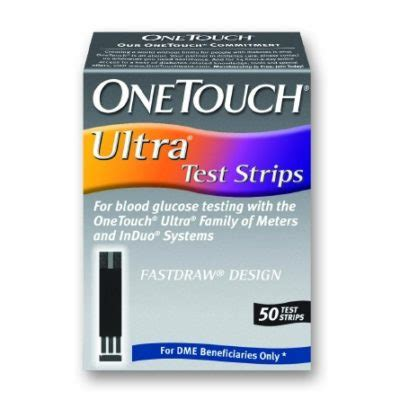 blood glucose test strips one touch ultra 50 test strips