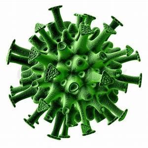 Green Virus Isolated On White Background