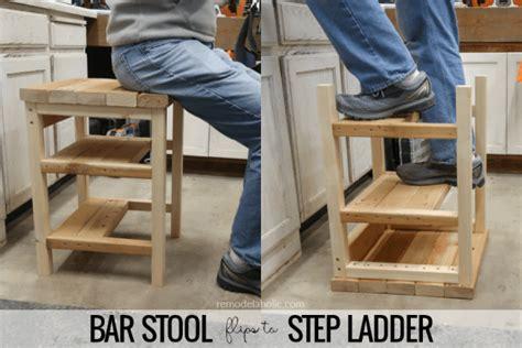 remodelaholic build  flip   bar stool step