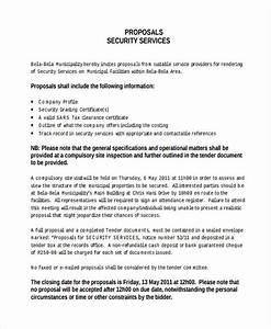 11 service proposal examples samples With proposal letter for security services