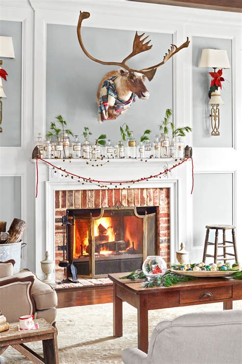 fireplace mantels decorated  christmas www